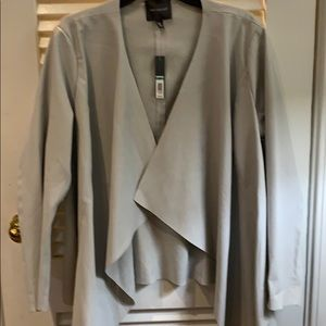 The Limited light grey leather look jacket